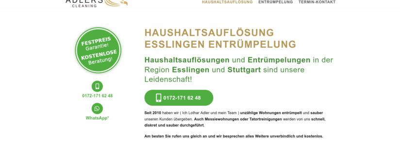 Adlers_Cleaning_Haushaltsaufloesung_Entruempelung_Esslingen_Startseite_Screenshot_3