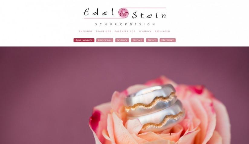 Edel und Stein Schmuckdesign Esslingen Homepage Screenshot 7 2018